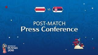 Fifa world cup™ 2018: costa rica - serbia: costa rica v. serbia post-match pc