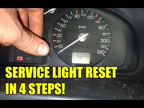 TUTORIAL: Service light reset Renault Laguna in 4 steps!