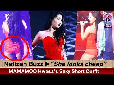 "💬 Netizen Buzz 👉MAMAMOO Hwasa's Short Outfit ""She looks cheap"""
