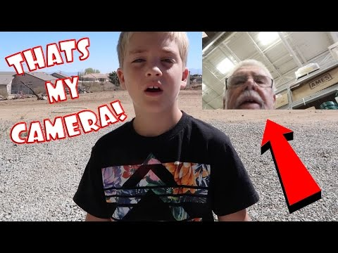 OLD MAN TRIES TO STEAL CAMERA!