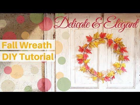 Delicate Single Leaves DIY Fall Wreath