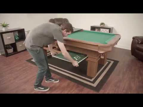 Attrayant Sinclair Billiard Table With Table Tennis Top Assembly Video