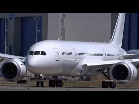 PrivatAir 787-8 Dreamliner Boeing Business Jet First Flight & RTO @ KPAE Paine Field