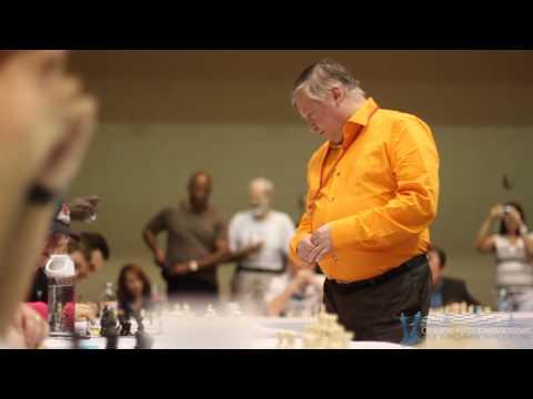 Anatoly Karpov Chess Simul - Las Vegas, NV (2012) - Simultaneous Exhibition (Ajedrez Simultanea)