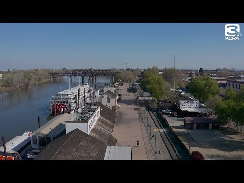 Drone video shows