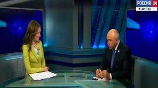Прямой эфир с ректором КФУ на ТК «Россия-24»