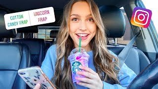 My Instagram Followers Pick My Starbucks Drinks for a Week...