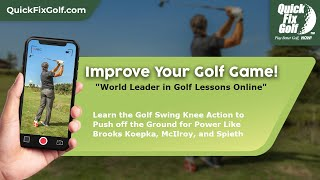Golf swing knee action for power on Koepka, McIlroy, Spieth