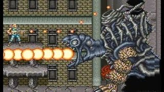 Contra 3 The Alien Wars SNES Walkthrough Super Probotector