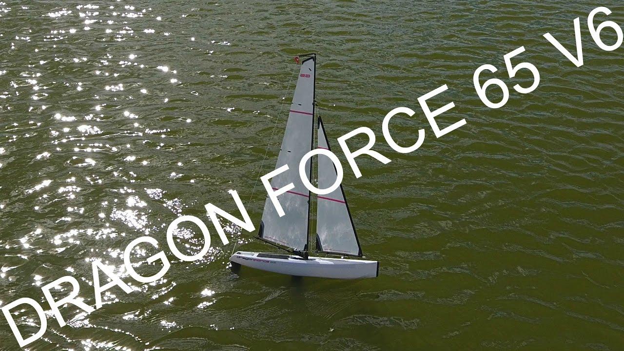 Joysway Dragon Force 65 V6 Yacht Filmed By Drone!