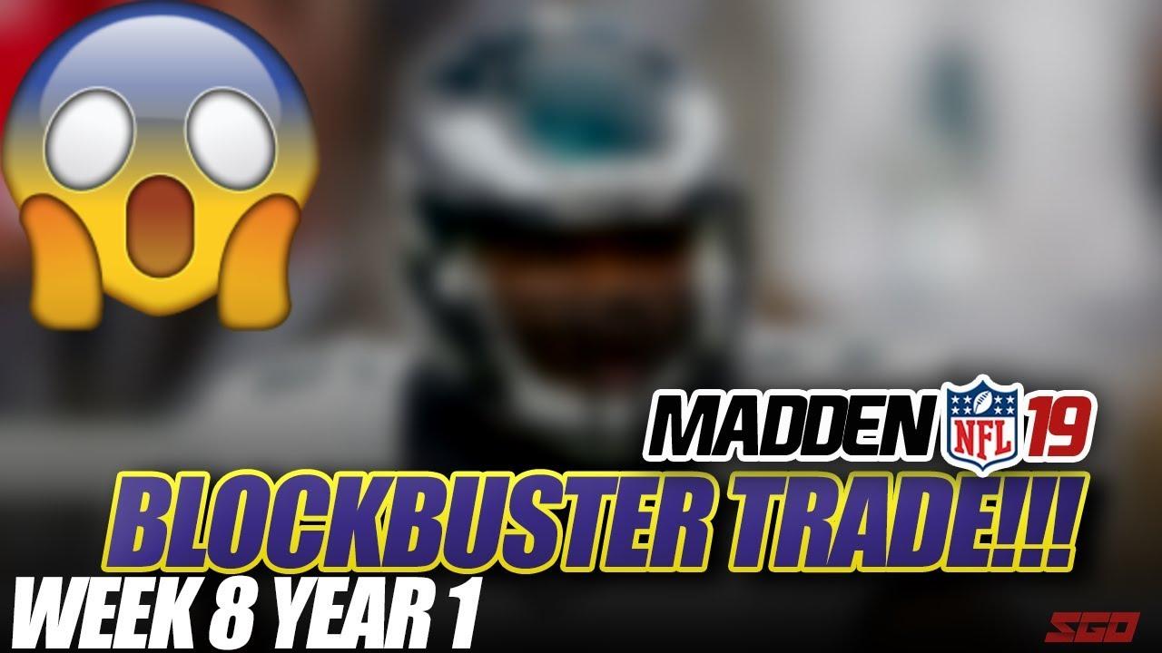 Madden 19 Connected Franchise   BLOCKBUSTER TRADE! Week 8 Ravens vs Panthers   Ep.8