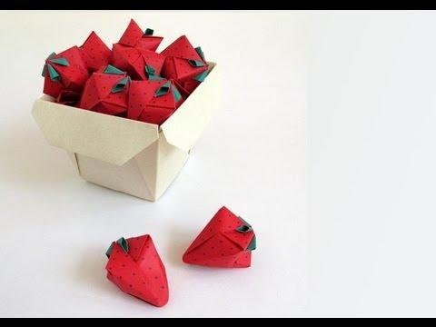 Origami Strawberry --Fresa