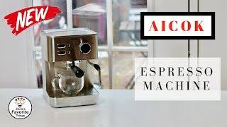 AICOK ❤️ Espresso, Cappuccino & Latte Machine - Review ✅