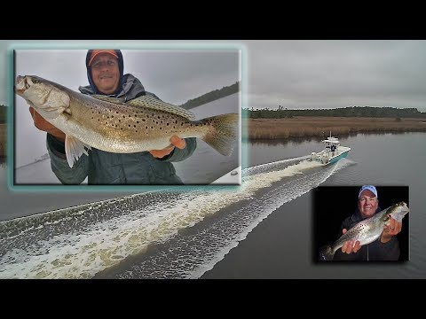 Jim Baugh Outdoors How To Catch Speckled Trout NC Tideline 235 2017