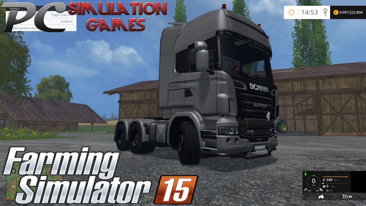 scania r 730 ls 15 farming simulator 2015 youtube. Black Bedroom Furniture Sets. Home Design Ideas