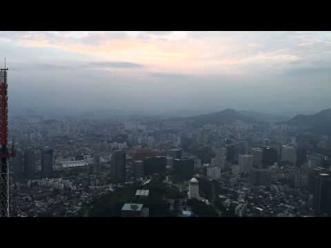 Sunset in N Seoul Tower