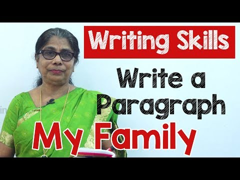 How To Write A Paragraph About My Family In English | Composition Writing  | Reading Skills