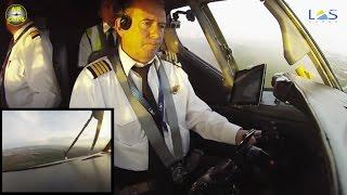 B727 manual landing: watch a REAL pilot at work! FULL ATC! [AirClips]