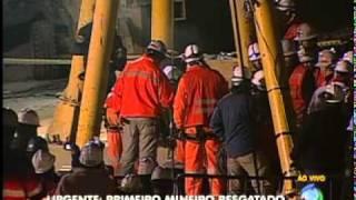 Plantão Record - Resgate dos 33 chilenos - Primeiro resgate (Rede Record - 2010)