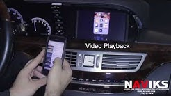 2008 Mercedes-Benz S-Class W221 NAVIKS Video Integration Kivic One + iPhone 5, Rear View Camera