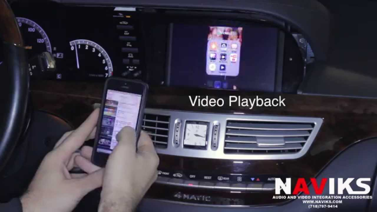2008 Mercedes Benz S Class W221 Naviks Video Integration