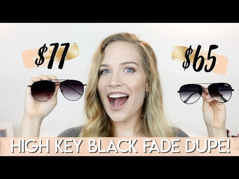 QUAY AUSTRALIA HIGH KEY DUPE! | DESI PERKINS HIGH KEY BLACK FADE | Makinze Lee thumbnail