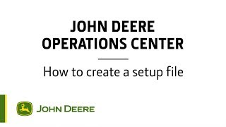 Operations Center  How to create a setup file