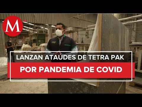 Ataúdes de Tetra Pak, mexicanos crean féretros con material reciclado