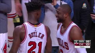 Intense Final Minute in Nets vs Bulls Game | 12.28.16