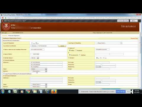 How To Create ESI Number / IP Number Online