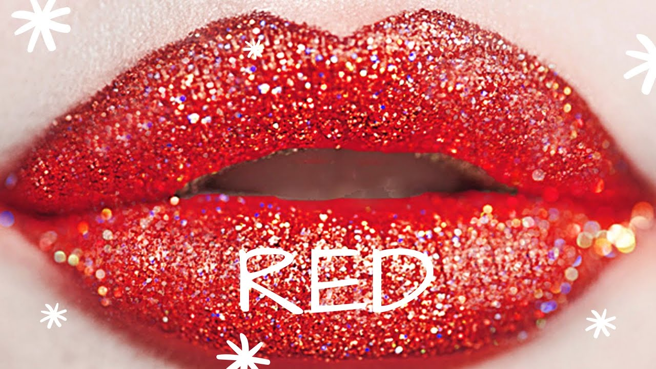 Image result for glitter red lips