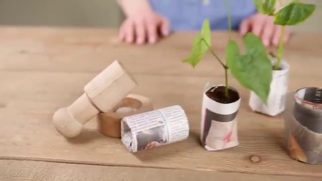 Membuat Pot Tanaman dari Koran Bekas untuk Pembenihan