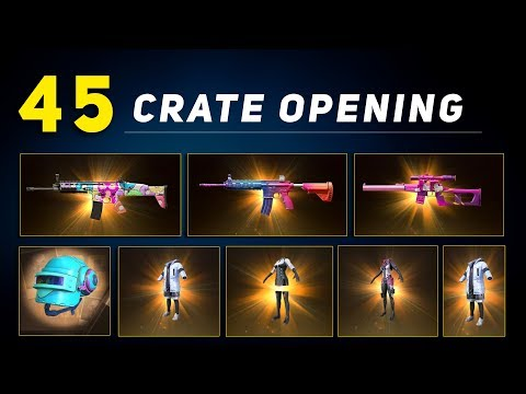 45 Crate Opening | Get  Legendary Items And Free Guns  Skins In Pubg Mobile