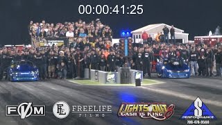 Nitrous vs Turbo Staging Dual at Lights Out 8!!!