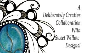 How to Draw a Turquoise Doodlegem -- Collaboration with Sweet Willow Designs