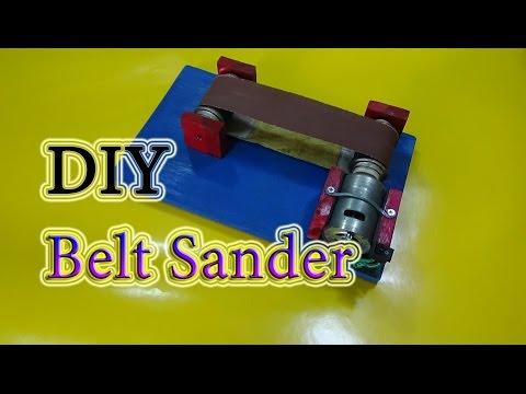 How to make a Mini Belt Sander Machine Simple