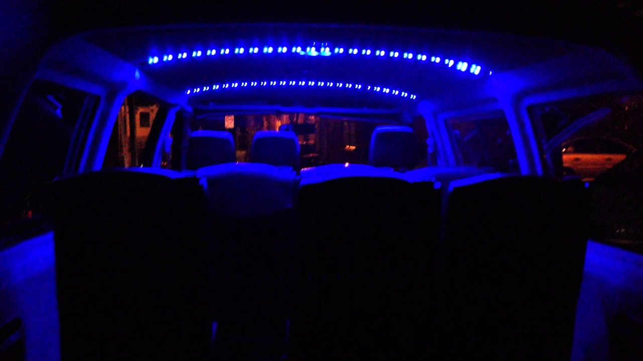 Toyota Hiace Flashing Led Disco Lights Fitted Youtube