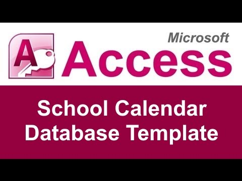 Microsoft Access School Calendar Tracking Database Template