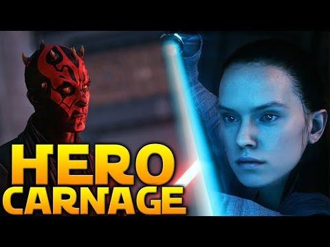 35 MINUTES OF HEROES (Beta) - Star Wars Battlefront 2