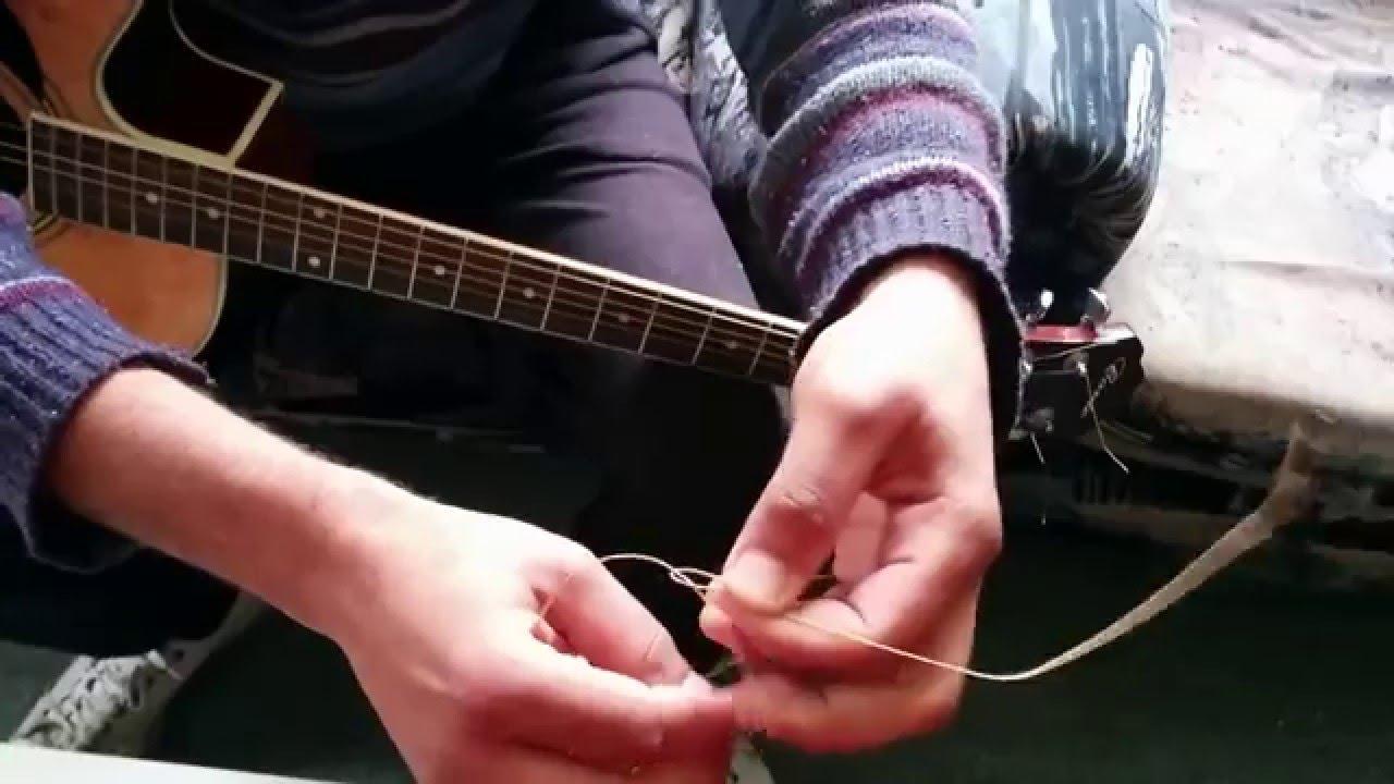how to fix broken guitar string youtube