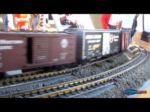 Outdoor Set-up G-Scale Model Trains Part 2