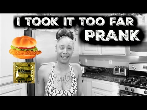 CONDOM IN HER FOOD  PRANK ON GIRLFRIEND!!!