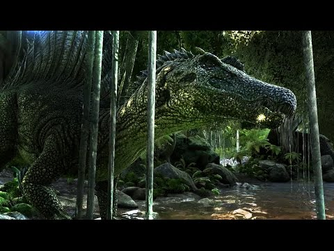 THE SAVAGE SWAMPS | Sarcosuchus VS Spinosaurus (ARK: Survival Evolved Battle Scenarios)