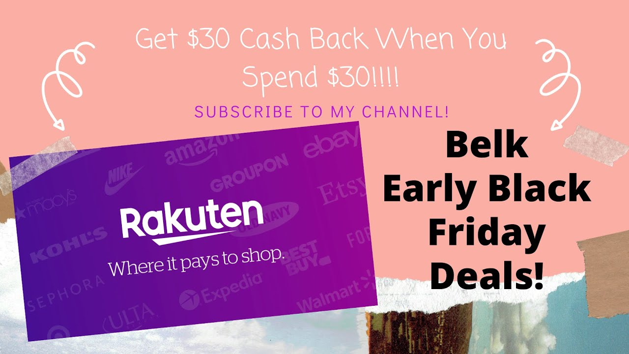 Rakuten Online Cash Back Deal! Spend $30 Get $30 Cash Back! I Cheap Nike