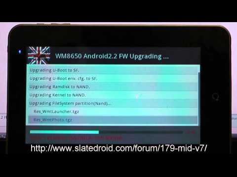 MID V7 & MID V8 - Firmware Update Video - www merimobiles com