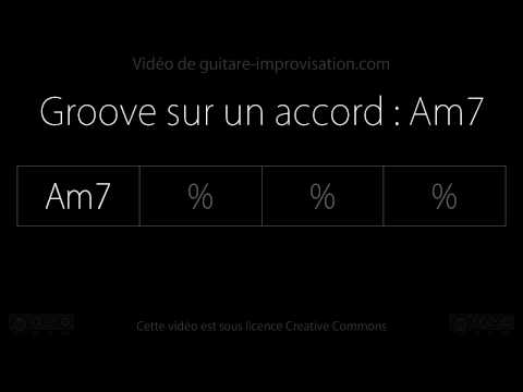 Groove sur l'accord Am7 : Backing track