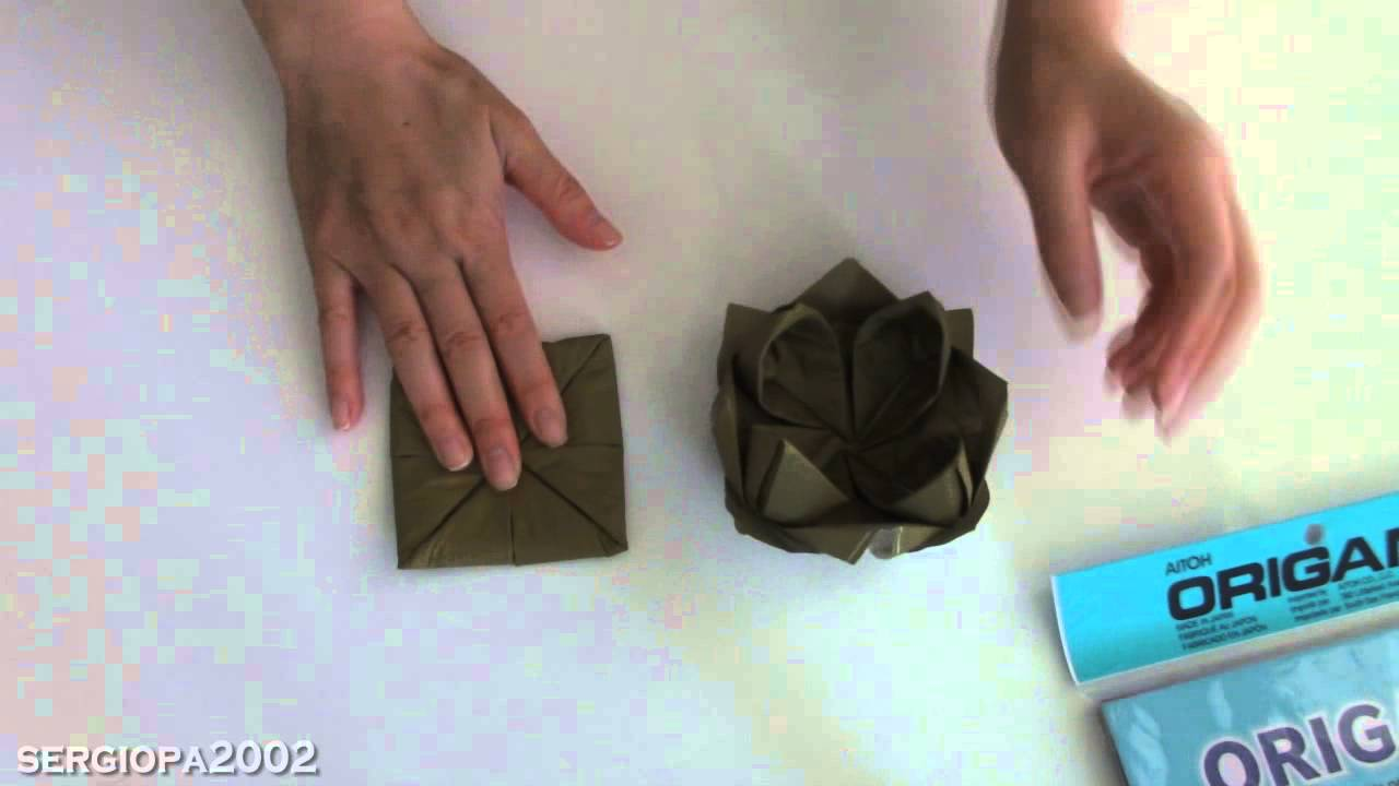 Origami lotus flower paper napkin fast and easy youtube origami lotus flower paper napkin fast and easy mightylinksfo