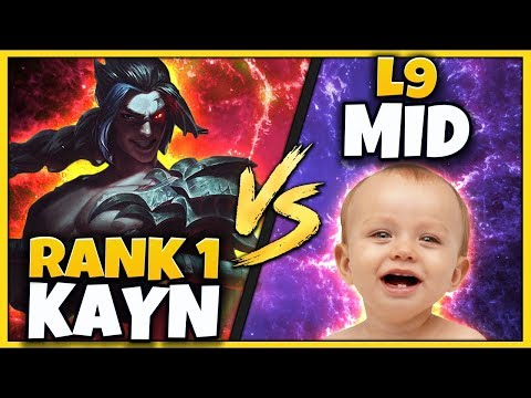 #1 KAYN WORLD VS. TOXIC L9 CHALLENGER MID (INSANE FLAME) - League of Legends