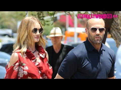 Rosie Huntington-Whiteley & Jason Statham Have Lunch Together At Soho House In Malibu 5.29.16