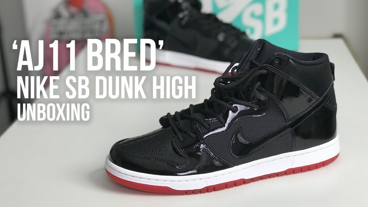 4e8d36c4f9ec7 Nike SB Dunk High TR  Bred  QS Sneaker Unboxing - YouTube